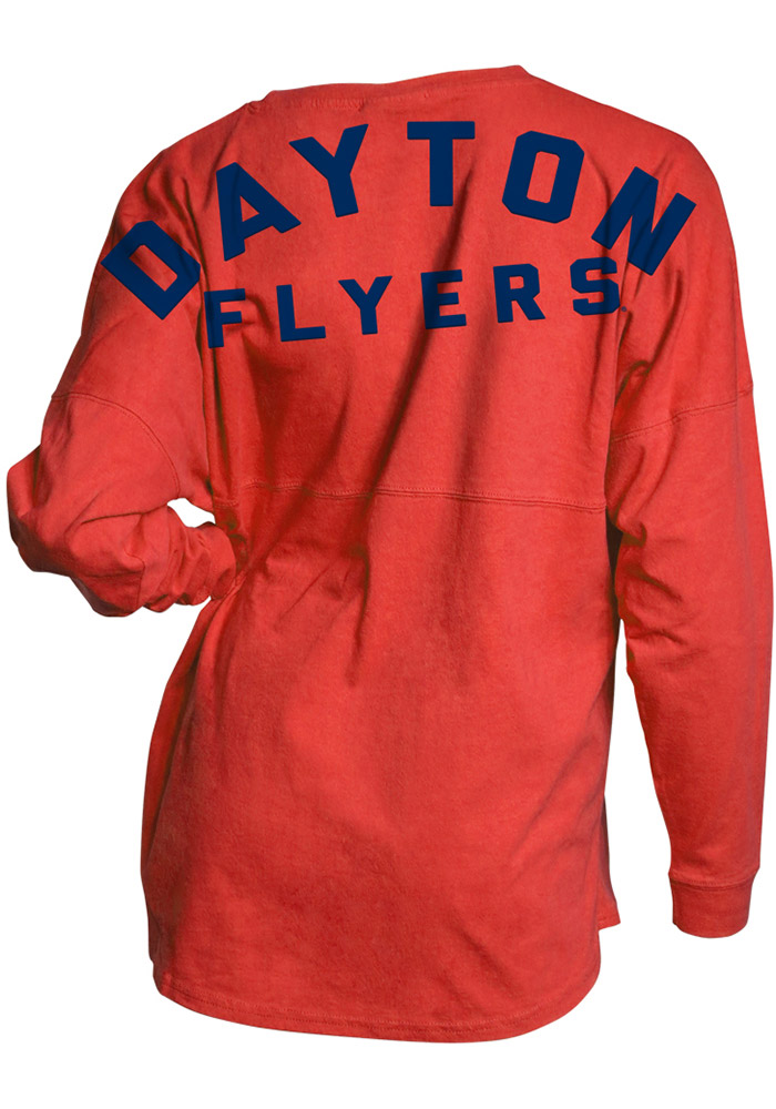 Dayton Flyers Womens Red Game Day Jersey LS Tee - Image 2