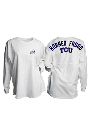 Horned Frogs Womens Gameday White LS Tee