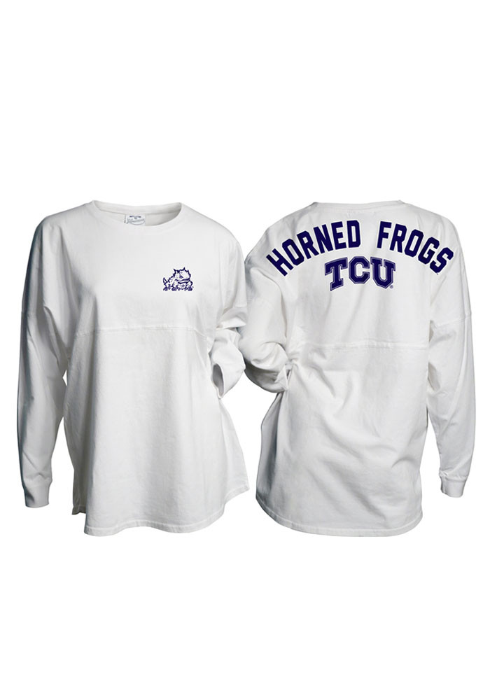 TCU Horned Frogs Juniors White Gameday LS Tee - Image 1