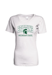 Michigan State Spartans Womens White Basic Arch T-Shirt