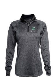 Cleveland State Vikings Womens Space Dye 1/4 Zip - Black