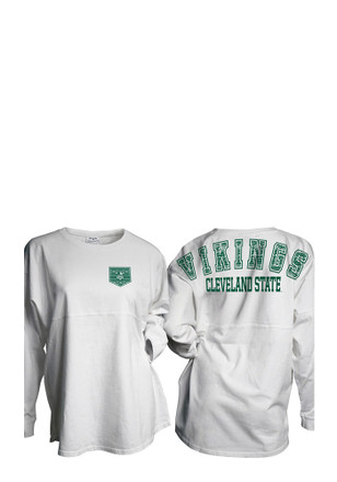 Cleveland State Vikings Womens Gameday White LS Tee