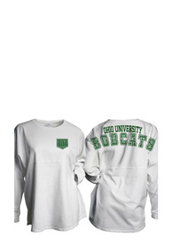 Ohio Bobcats Womens Gameday White LS Tee
