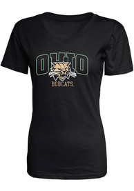 Ohio Bobcats Womens Black Basic T-Shirt