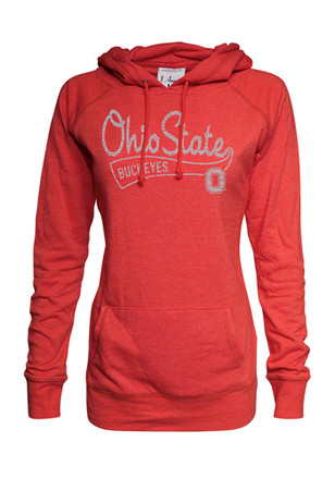 Ohio State Buckeyes Womens Red Triblend Hoodie
