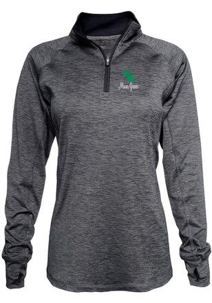 North Texas Mean Green Womens Space Dye Black 1/4 Zip Pullover