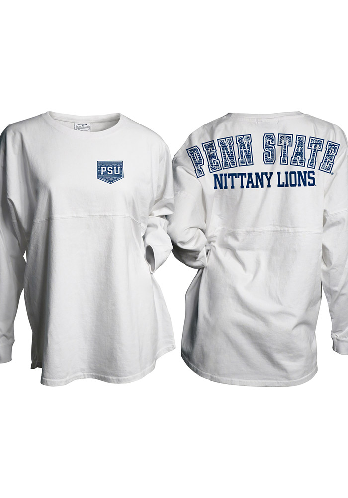 Penn State Nittany Lions Womens White Gameday LS Tee - Image 1
