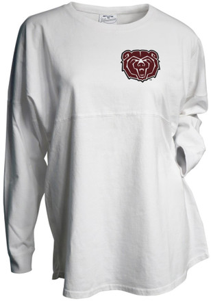 MO State Womens Gameday White LS Tee
