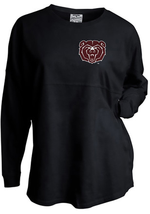 MO State Womens Gameday Black LS Tee