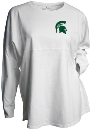 Michigan State Spartans Womens Gameday White LS Tee