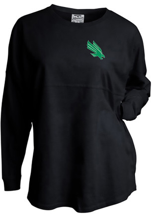 North Texas Mean Green Womens Gameday Black LS Tee