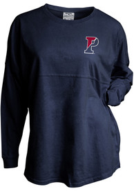 Pennsylvania Quakers Womens Mascot Back Navy Blue LS Tee