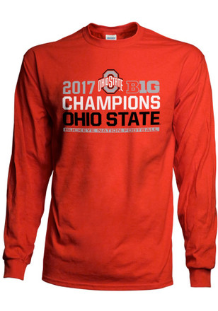 Ohio State Buckeyes Mens Red Big 10 Conf Champs Tee