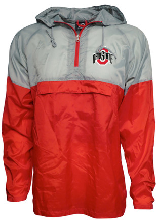 Ohio State Buckeyes Mens Grey Packable Light Weight Jacket