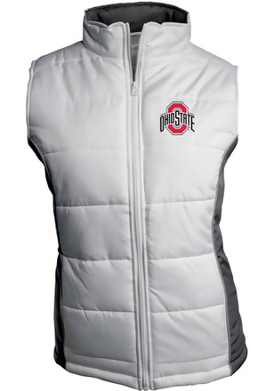 Ohio State Buckeyes Womens White Quilted Vest