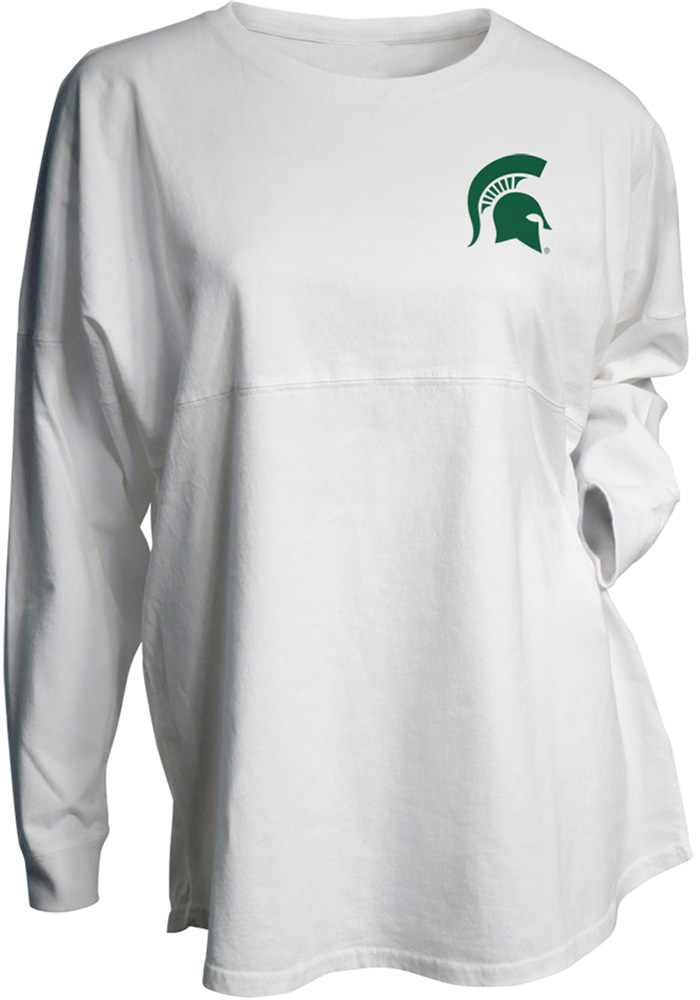 Michigan State Spartans Womens Gameday Jersey White LS Tee