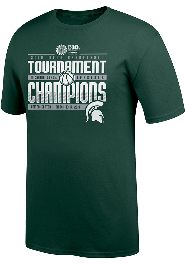 Michigan State Spartans Green 2019 Big 10 Tourney Champs Tee c6ebdd230