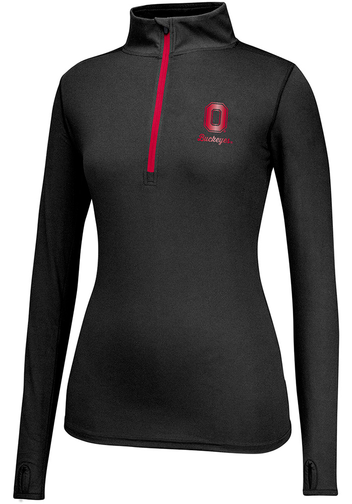 Top of the World Ohio State Buckeyes Womens Get Going Black 1/4 Zip Pullover