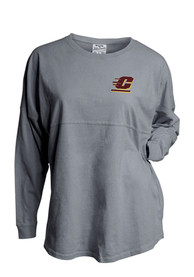 Central Michigan Chippewas Womens Game Day Jersey Grey LS Tee