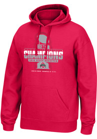 Ohio State Buckeyes Top of the World 2019 Big Ten Conference Champions Hooded Sweatshirt - Red