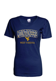 West Virginia Mountaineers Womens Navy Blue Basic T-Shirt