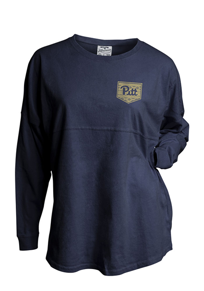 Pitt Panthers Womens Navy Blue Gameday LS Tee - Image 1
