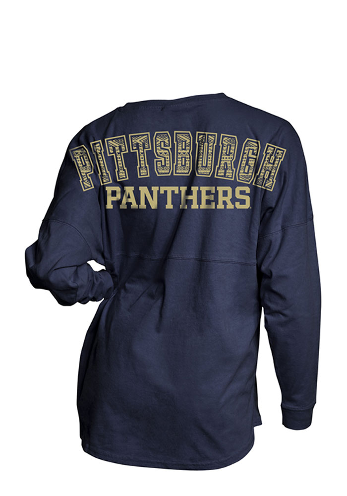 Pitt Panthers Womens Navy Blue Gameday LS Tee - Image 2