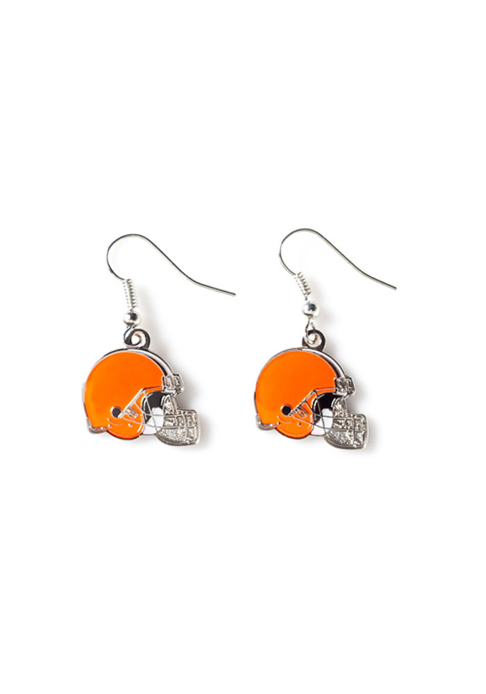 Cleveland Browns Logo Dangle Womens Earrings - Image 1