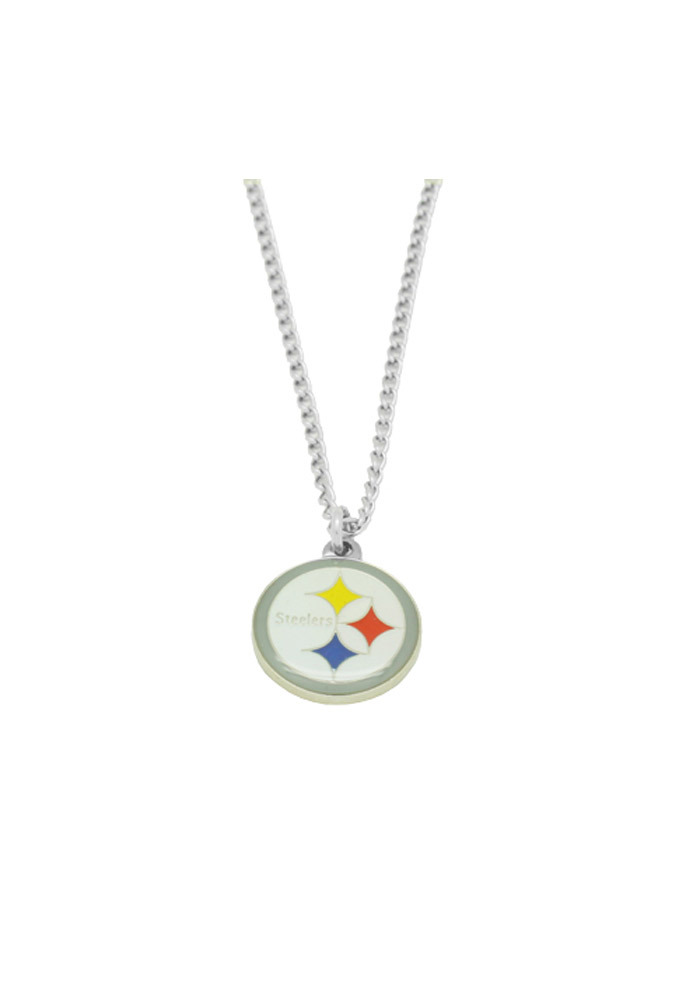 Pittsburgh Steelers Womens Logo Necklace - Silver