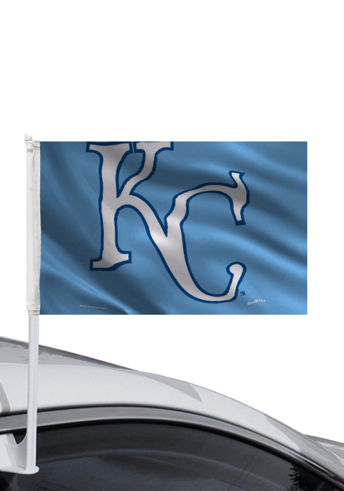 Kansas City Royals Powder Blue Car Flag - Image 1