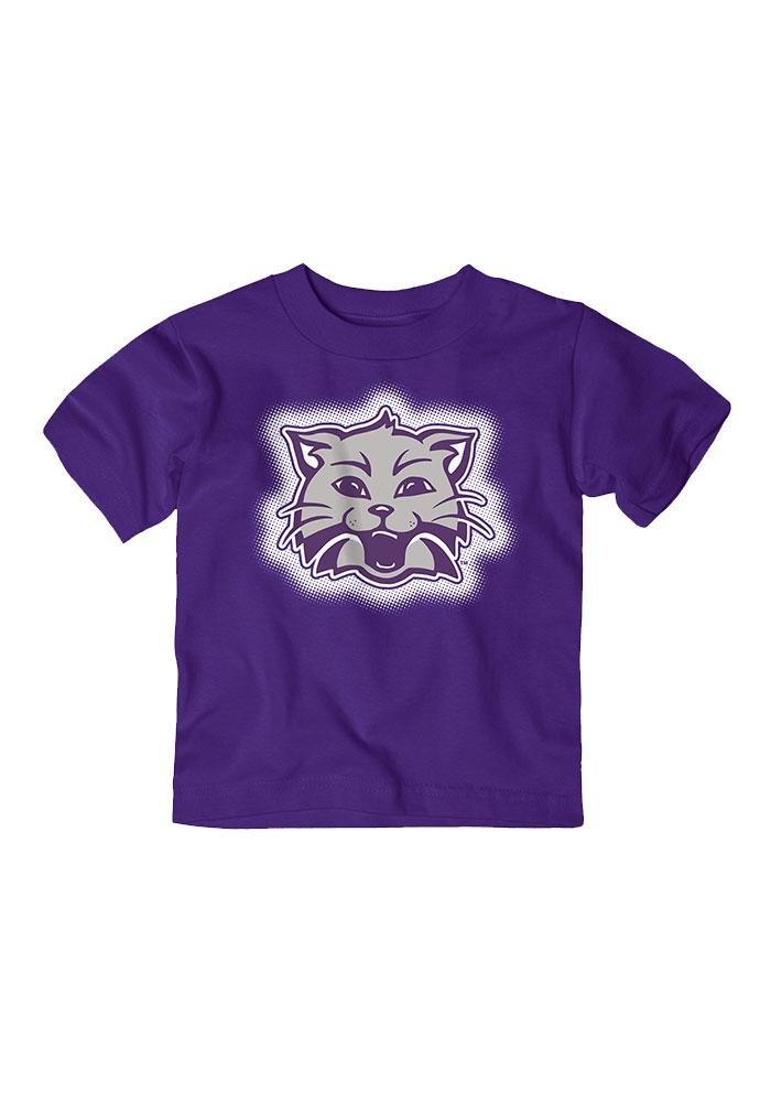 K-State Wildcats Toddler Purple Glowgo Short Sleeve T-Shirt - Image 2