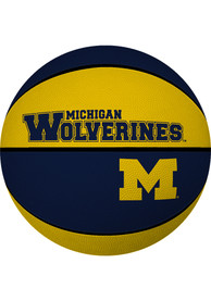 Michigan Wolverines Deluxe Rubber Basketball