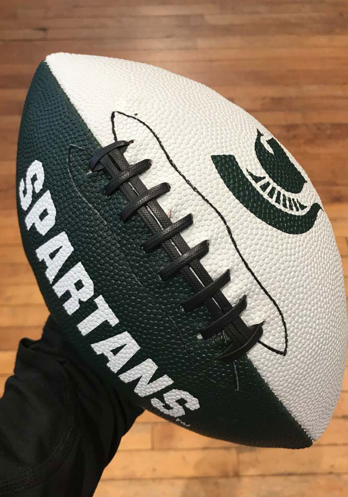 Michigan State Spartans GripTech Junior Football - Image 1