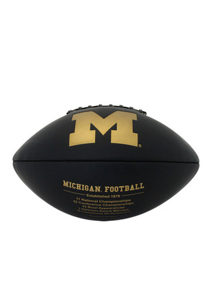 Michigan Wolverines Official Team Logo Autographed Football