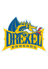 Drexel Dragons 6x6 2pk Car Magnet - Yellow