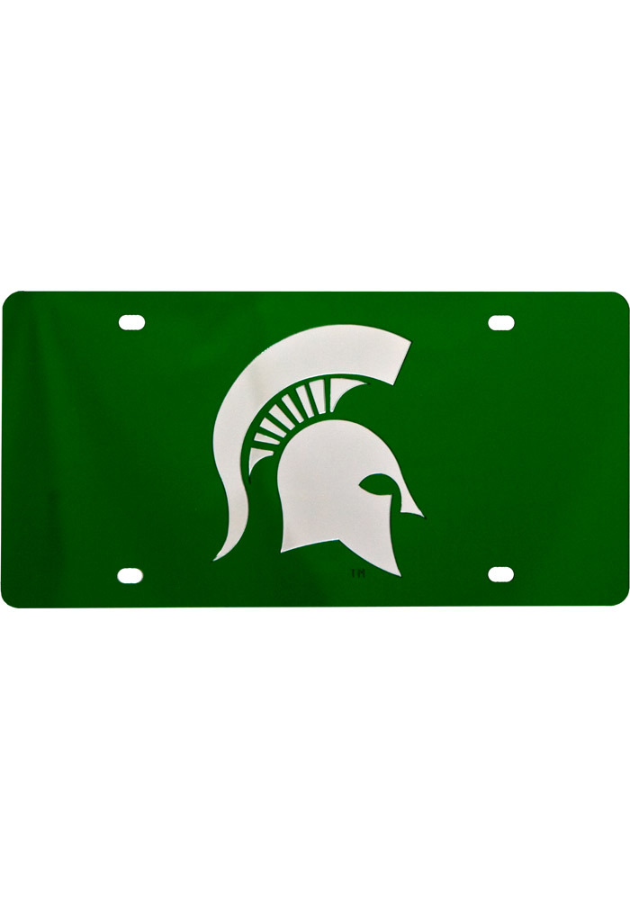 Michigan State Spartans Green Car Accessory License Plate - Image 1