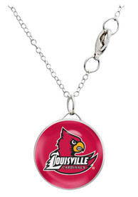 Louisville Cardinals Womens Single Drop Necklace - Red