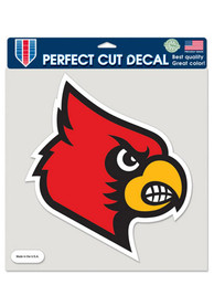 Louisville Cardinals Logo Auto Decal - Red
