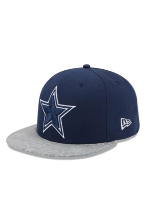 Dallas Cowboys Mens Navy Blue Reflective Draft Fitted Hat