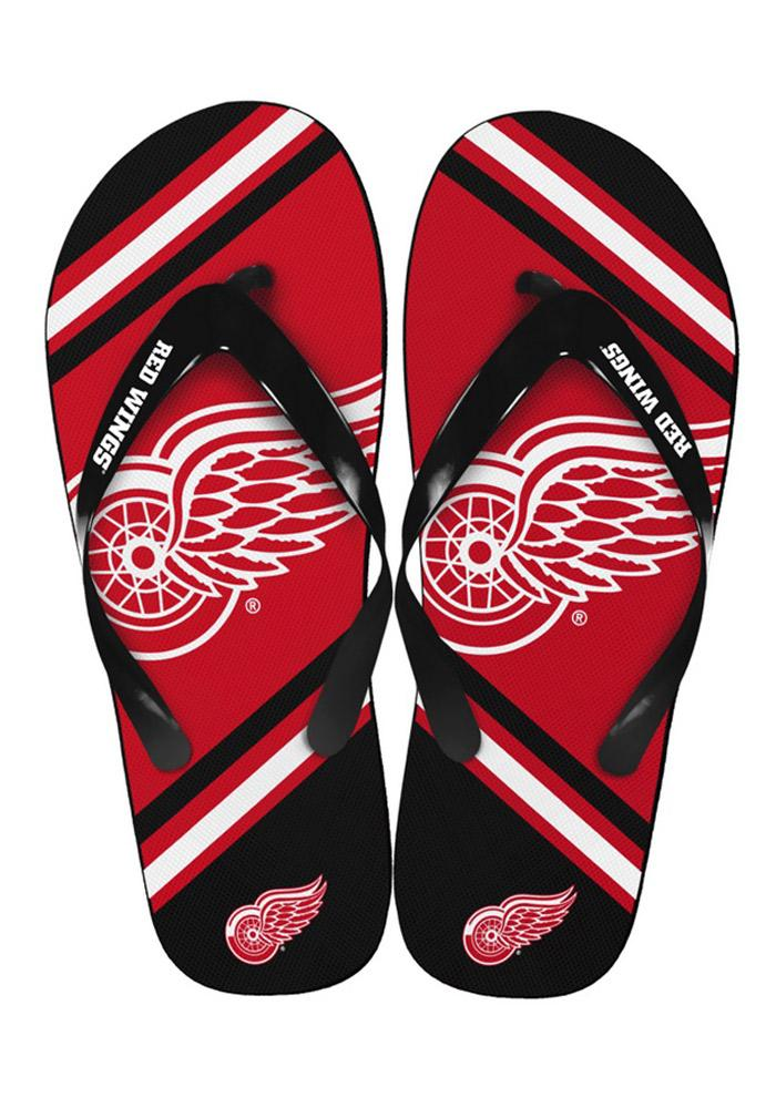 Detroit Red Wings Big Logo Flip Flops - Red