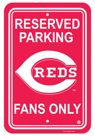 Cincinnati Reds Reserved Parking Sign