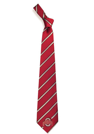 Ohio State Buckeyes Woven Poly 1 Tie