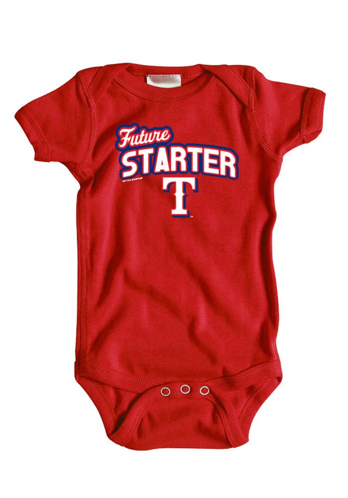 05dfd0e3d Texas Rangers Baby Red One Piece Short Sleeve One Piece - 22650121