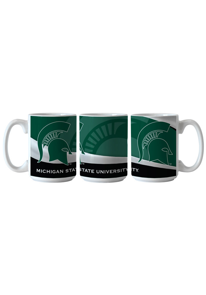 Michigan State Spartans 15oz Wave Ceramic Mug - Image 1