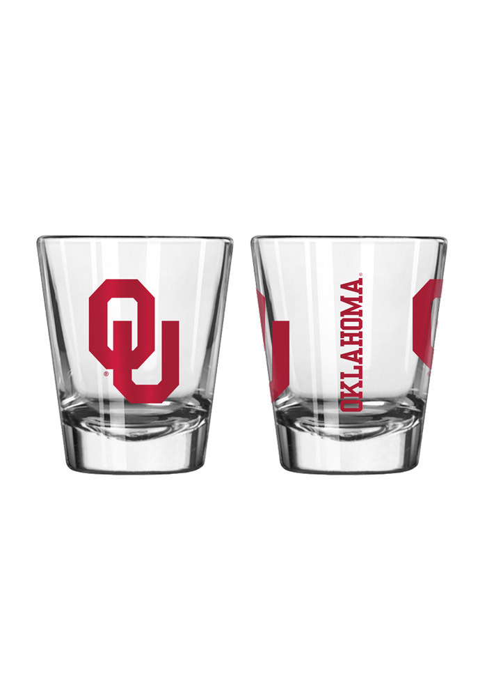 Oklahoma Sooners 2oz Clear Shot Glass - Image 1