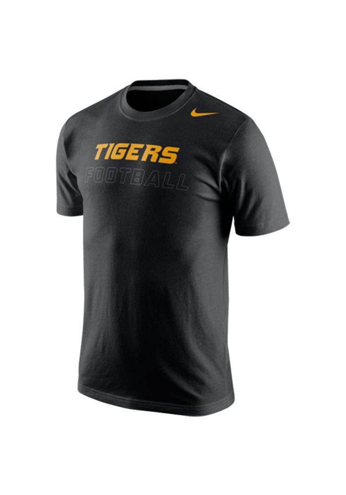Nike Missouri Tigers Mens Black Training Day Short Sleeve T Shirt - Image 1