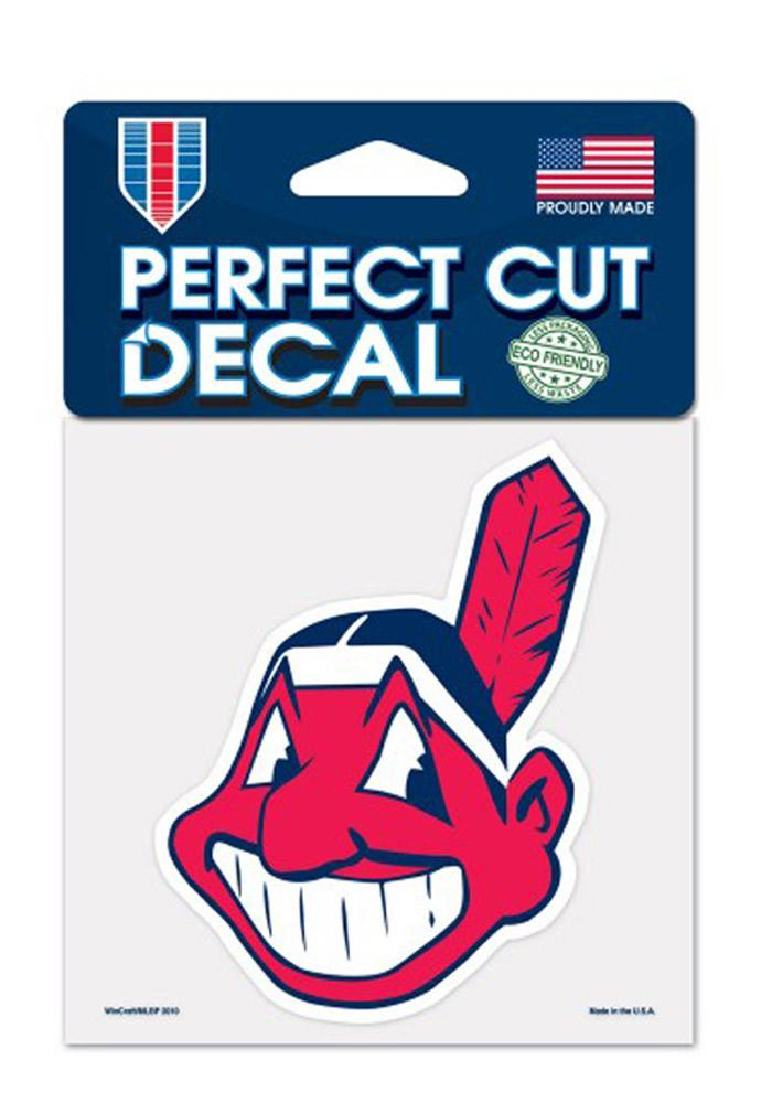Cleveland Indians 4x4 Perfect Cut Decal - Image 1