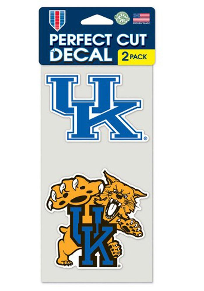 Kentucky Wildcats 2-Pack 4x4 Perfect Cut Decal - Image 1