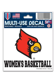Louisville Cardinals Basketball Auto Decal - Red