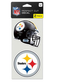 Pittsburgh Steelers 2-Pack 4x4 Perfect Cut Auto Decal - Black